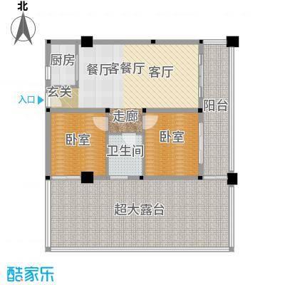 美亚之心公寓D户型2室2厅1卫