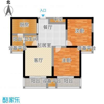 西港碧水湾91.82㎡B/B1户型2室2厅1卫
