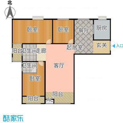 华研香水湾户型2卫1厨