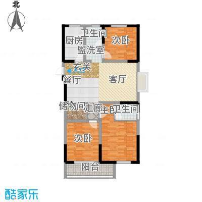 澳达玫瑰园132.00㎡1号楼东1单元东户户型3室2厅2卫