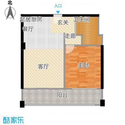 梦云南・雨林澜山户型1室1卫