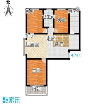 朗月蓝庭124.20㎡A户型三室两厅一卫户型3室2厅1卫