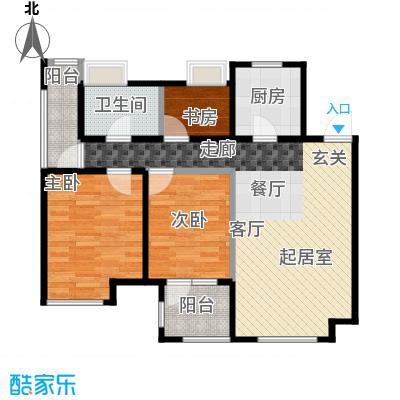 金地艺境75.66㎡户型10室