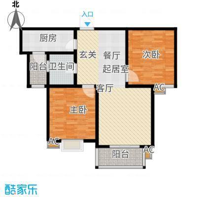 金色奥园92.00㎡2室2厅