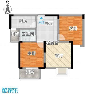 野风・现代景苑63.46㎡6#2单元3-25层02户型10室