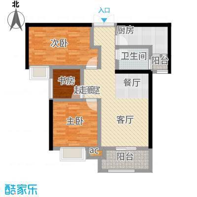 君河湾6#楼A3户型109.18 两室两厅一卫户型2室2厅1卫