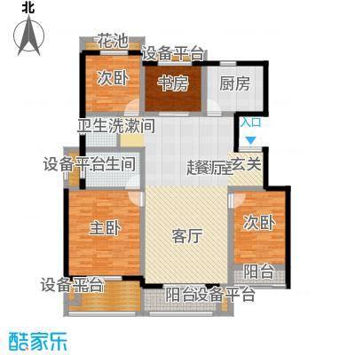 朝阳首府139.19㎡洋房3f四室两厅两卫户型4室2厅2卫
