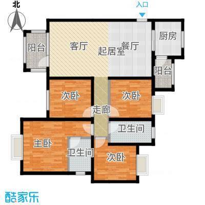 金道城129.73㎡26B户型四室两厅两卫户型4室2厅2卫