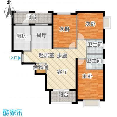 金道城114.92㎡13号楼三室两厅两卫户型3室2厅2卫