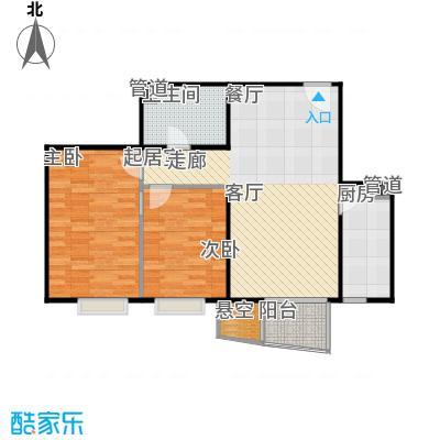 鸥洲电梯洋房户型图H户型2室2厅1卫