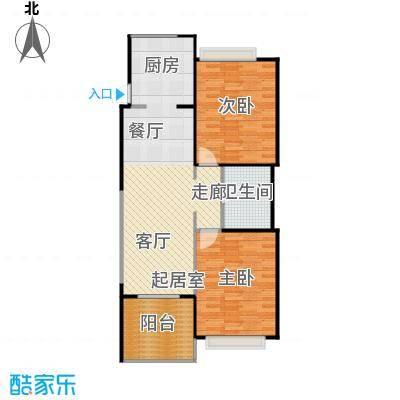 雅居乐云南原乡88.35㎡A8户型2室2厅1卫