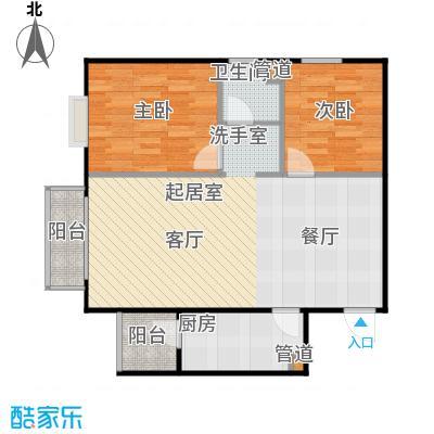 鸥洲电梯洋房户型图A户型2室2厅1卫