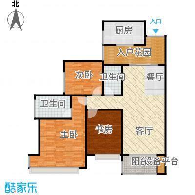 雅居乐云南原乡122.80㎡A2户型3室2厅2卫