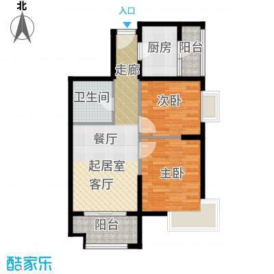 金道城67.04㎡12号楼东南户两室两厅一卫户型2室2厅1卫