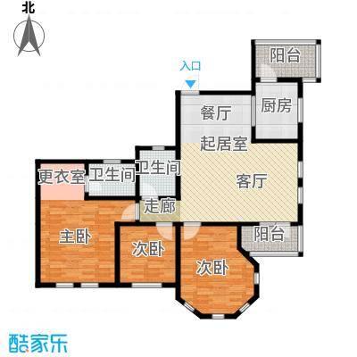 金道城127.33㎡11号楼5层南户三室两厅两卫户型3室2厅2卫