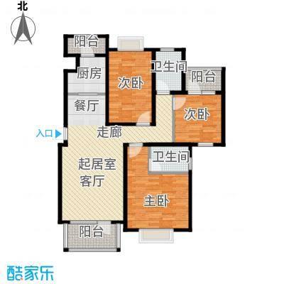 金道城114.69㎡11号楼A户型东户三室两厅两卫户型3室2厅2卫