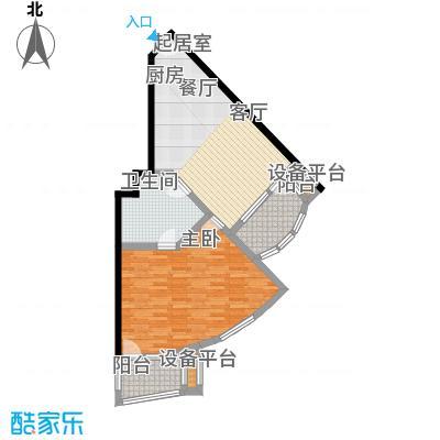 御庭春MOM∧白金海岸公寓89.22㎡A户型2室1厅1卫