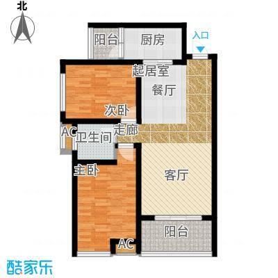 汉城湖一号汉城湖一号 C区C户型 2室1厅1卫户型2室1厅1卫