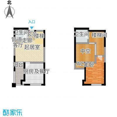 弘泽印象89.00㎡3室2厅1卫户型