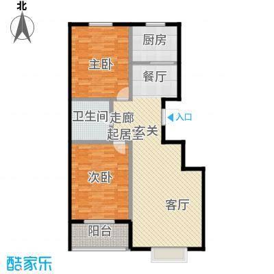 西湖庄园97.90㎡F-两室两厅一卫户型2室2厅1卫