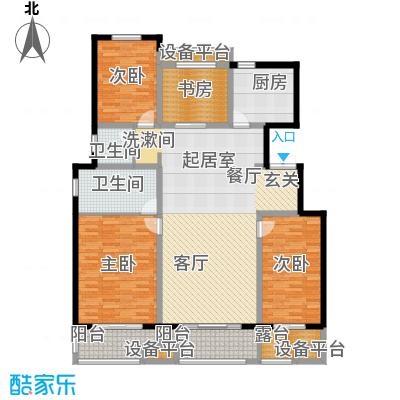 朝阳首府152.32㎡洋房2f四室两厅两卫户型4室2厅2卫