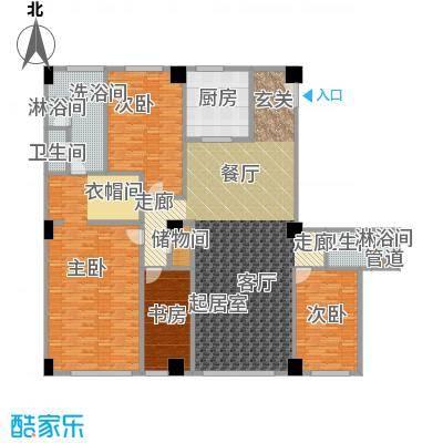 迎宾国际公寓3门01户型 四室二厅 295.20㎡户型