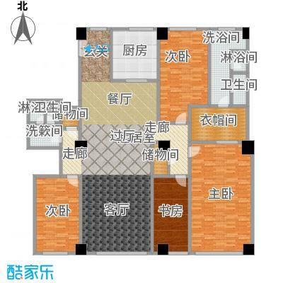 迎宾国际公寓3门02户型 四室二厅 292.97㎡户型