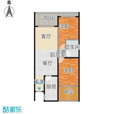 山海湾温泉家园60.09㎡山海湾温泉家园A户型2室2厅1卫