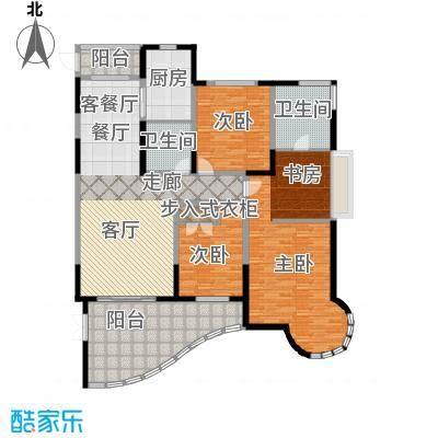 时代中央社区182.00㎡182平米F户型名邸4室2厅2卫1厨户型4室2厅2卫