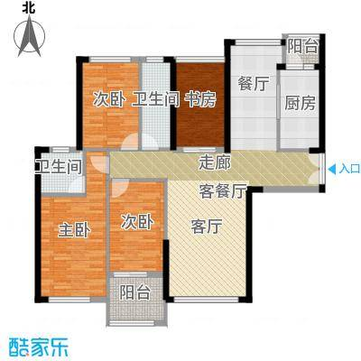 御湖湾127.00㎡单片D2-3户型4室2厅2卫