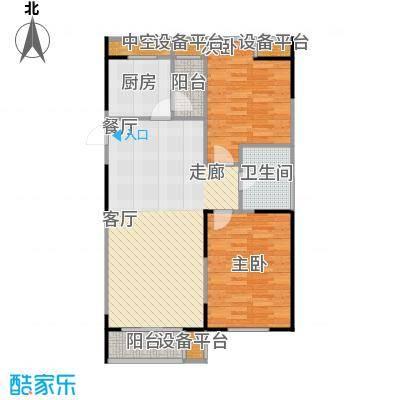 UP青年公社98.01㎡两房一厅一卫一厨-98.01平方米户型