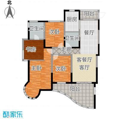 时代中央社区185.00㎡185平米A户型 4室2厅2卫1厨户型3室2厅2卫