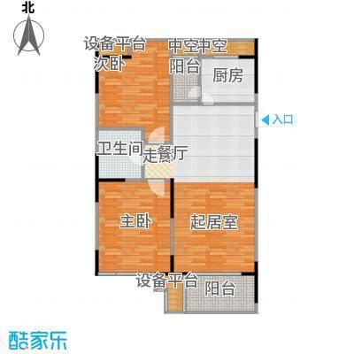 UP青年公社101.14㎡两房一厅一卫一厨-101.14平方米户型