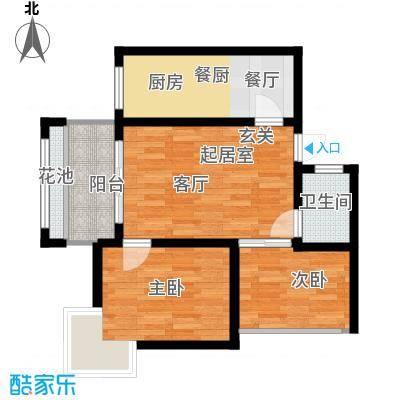 海南东方锦绣蓝湾67.89平米户型