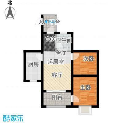 海南东方锦绣蓝湾68.98㎡户型