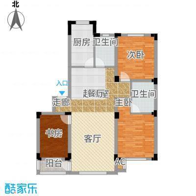 雷明锦程109.62㎡H户型3室2厅2卫户型3室2厅2卫