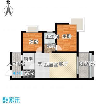 海南东方锦绣蓝湾83.97㎡户型