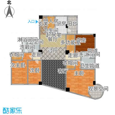 迎宾国际公寓2门01户型 四室二厅 335.35㎡户型