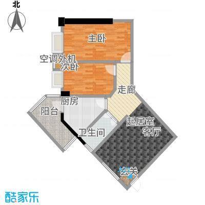 五邑锦绣豪庭户型2室1卫1厨