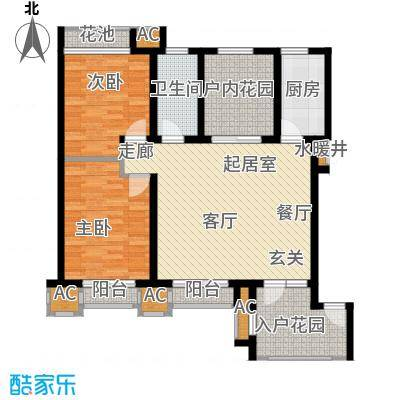 亚泰城99.00㎡三室二厅一卫户型3室2厅1卫