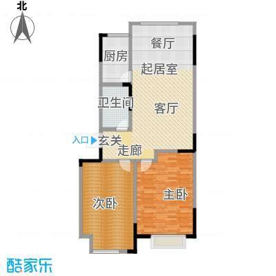 山水家园97.96㎡C户型2室2厅1卫