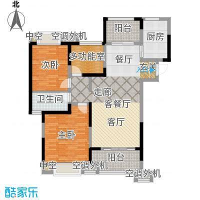天鸿・尹山湖韵佳苑C1户型 1#标准层04室 约108平户型3室2厅1卫