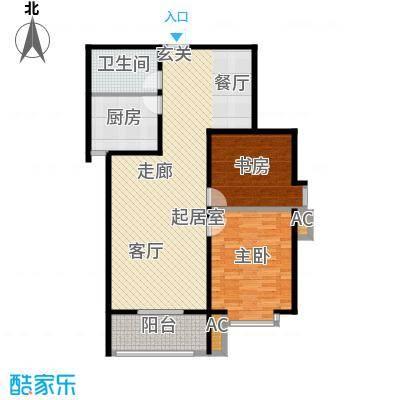汇博阳光水岸105.15㎡9号楼C2 两室两厅一卫户型2室2厅1卫