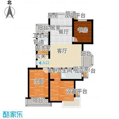 城际美景F单元 三室二厅 125-130平米户型