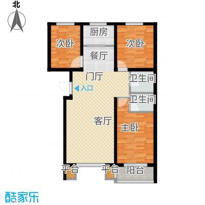 明日星城D户型三室两厅两卫户型3室2厅2卫