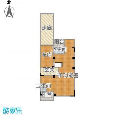 观林一品119.71㎡B地下层平面图户型1室2厅1卫