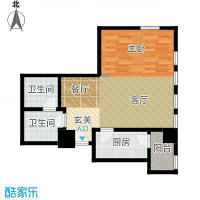 天津公馆户型1厅2卫1厨