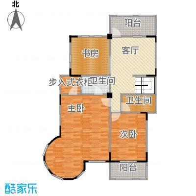 观林一品101.73㎡A第二层平面图户型3室1厅2卫