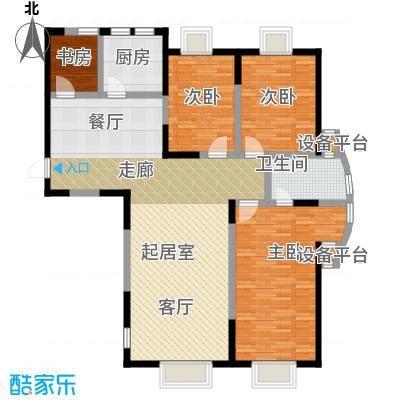 华侨御景湾120.00㎡房型: 三房; 面积段: 120 -140 平方米;户型