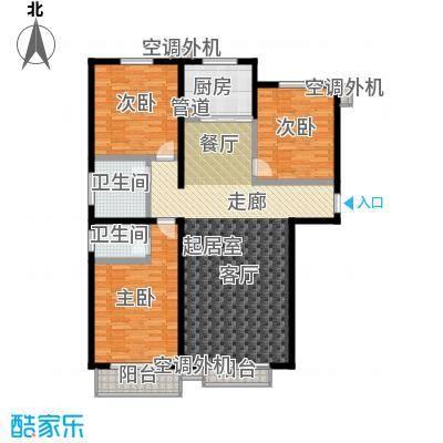 博鑫翰城138.95㎡A1户型3室2厅2卫